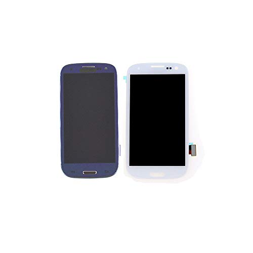 New LCD Screen Assembly Touch Digitizer for Samsung Galaxy S3 i9300 i535 i747 T999 White/Blue (White) (Galaxy S3 Screen Replacement Blue)