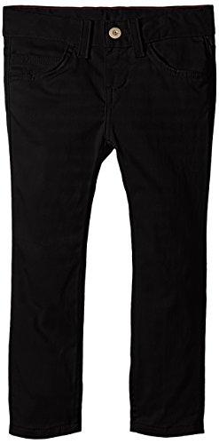 Dickies Little Girls' 5-Pocket Stretch Twill Pant, Black, 6