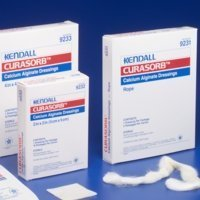 Kendall Curasorb Calcium Alginate Dressing - Kendall Curasorb Calcium Alginate Dressing 4X5 1/2 - Box of 10 - Model 9240