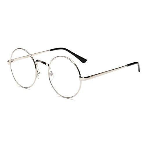 Metallique Lunettes HENGSONG de Rétro Lunettes Rondes Noir Noir Myopie Sunglasses Monture 7WnSAx