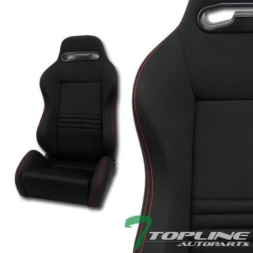 Topline Autopart Tr Sport Black Cloth Red Stitches, used for sale  Delivered anywhere in USA