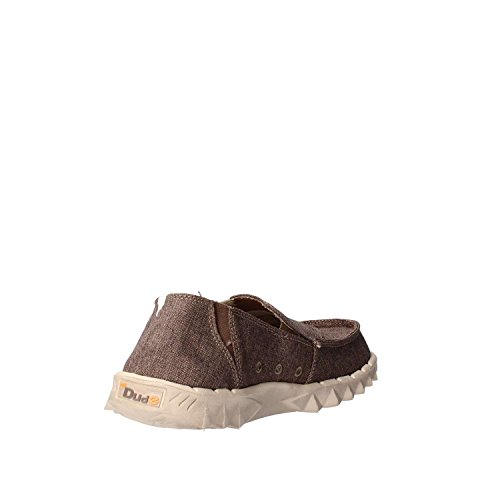 Dude Shoes Men's Farty Linen Chocolate Slip On / Mule brown uCnH1V3
