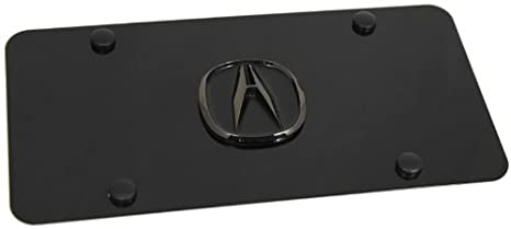 Amazoncom Black Pearl Acura Logo Black Front License Plate Frame - Acura license plate