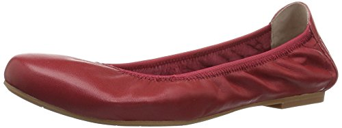 Blondo Women's Becca Waterproof Ballet Flat, Red Leather, 8 M - Footwear Mid Red Leather