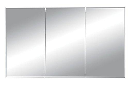 Jensen 255048X Tri-View Bevel Mirror Medicine Cabinet, 48