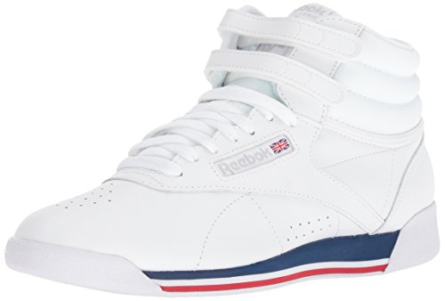 Reebok Women Blue Bunker Patent Freestyle white Retro q0w8qp