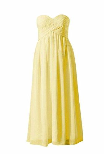 BM824 Beach 24 Party Long Dress Dress banana Bridesmaid DaisyFormals Chiffon Wedding Strapless vxIqAppwz