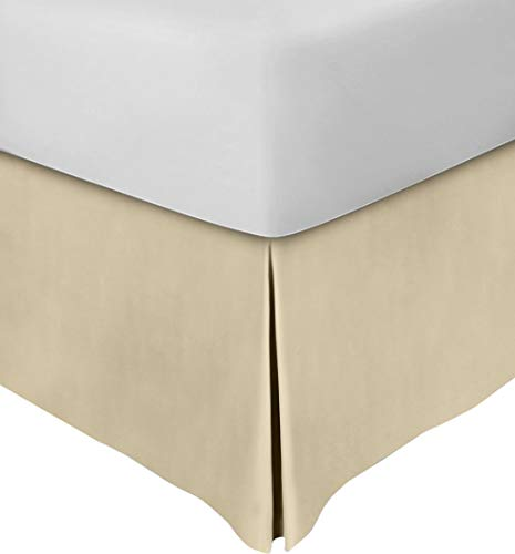 Bedskirt Cream - Utopia Bedding Microfiber Bed Skirt - Wrinkle and Fade Resistant (Queen, Beige)