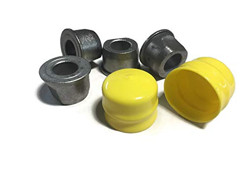 (Outdoor Power Deals 4 Pack OPD Wheel Bushing Fits John Deere M123811 with Wheel caps for M143338)