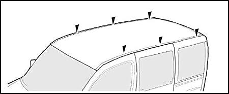 VDP kompatibel mit Renault Master mittlere//Lange Version ab 97 Dachtr/äger 3 Stangen XL Pro 200
