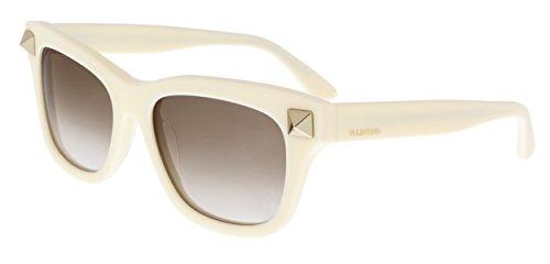 VALENTINO Sunglasses V656S 103 Ivory - Women's Sunglasses Valentino Round