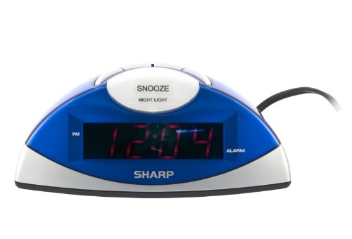 Sharp SPC020KF Alarm Clock Silver