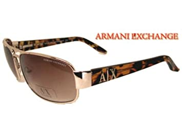 1bb7a0e4b3f Image Unavailable. Image not available for. Colour  ARMANI EXCHANGE AX  032 S 3YG Aviator Tortoise Gold Men Women Unisex Sunglasses