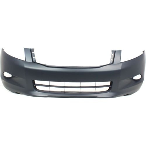 Perfect Fit Group REPH010303P - Accord Front Bumper Cover, Primed, W/ Fog Lamp Holes, 6 Cyl, Sedan (2009 Honda Accord Front Bumper)