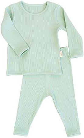 6M-7J - Pijama de punto para bebé, unisex, para niñas y niños, de algodón suave Espuma marina. 4-5 años