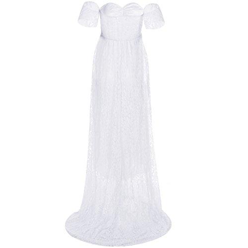 e12880797 El servicio durable IWEMEK Vestido de Maternidad Mujer Fiesta Largos Boda  Mujer Embarazada Encaje Floral Foto