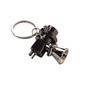 Waste gate Key chain-Black and Chrome Colour-Zinc Alloy Metal