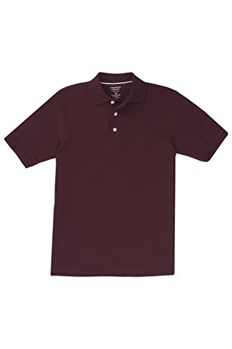 French Toast Big Boys' Short Sleeve Pique Polo, Burgundy, - Kids Polo Outlet