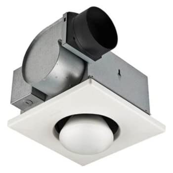 9417dn Nutone 70 Cfm Heat A Vent Bathroom Fan With One Bulb Lamp Heater For 4 Duct