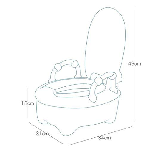 XWJC Children's Toilet Child Urinal Cartoon Large Drawer Baby Toilet Male and Female Baby Toilet (Color : Blue) by XWJC (Image #6)