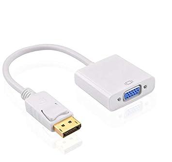 VEVICE Adaptateur DisplayPort vers VGA 1080p convertisseur Adaptateur DP vers VGA m/âle vers connecteur Femelle pour PC//Ordinateur Portable HP ThinkPad T410//T420//T510//X220 8x6x2 Noir