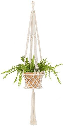 - Mkono Macrame Hanging Planter Basket Plant Hanger Home Decor, up to 8 inch Flower Pot