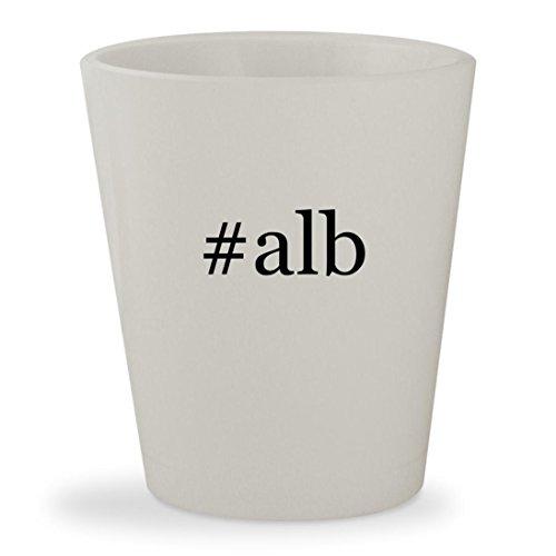 #alb - White Hashtag Ceramic 1.5oz Shot Glass