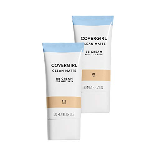 Covergirl Clean Matte Bb Cream Fair 510 for Oily Skin, 2 Count ()