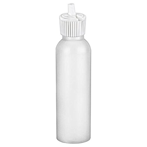 MoYo Natural Labs 2 oz Squirt Bottle, Squeezable Empty Travel Containers, BPA Free HDPE Plastic for Essential Oils and Liquids, Toiletry/Cosmetic Bottles (1 pack, Translucent White)