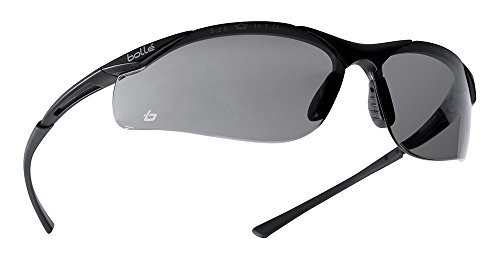 Bollé Safety 253-CT-40045 Contour Safety Eyewear with Semi-Rimless Nylon Frame and Smoke Anti-Fog Lens