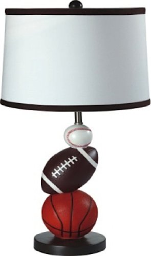 Ore International 8604 Multi Sport Table Lamp, 25