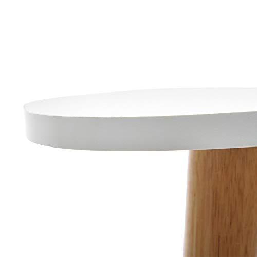 YRD TECH Living Nordic Minimalist Modern Irregular ShapeTable 50×48cm/19.68×18.89 Inch White, 3 Foot (White) by YRD TECH (Image #5)