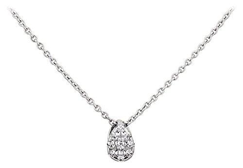 LP Créations - A98114 : Collier Femme Or 18K blanc et Diamant