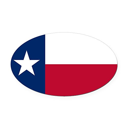 CafePress - Texas State Flag - Oval Car Magnet, Euro Oval Magnetic Bumper Sticker