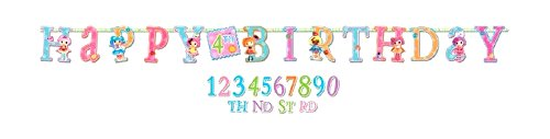 Adorable Lalaloopsy Jumbo Add-An-Age Letter Banner Birthday Party Decoration (1 Piece), Multi Color, 10'.]()