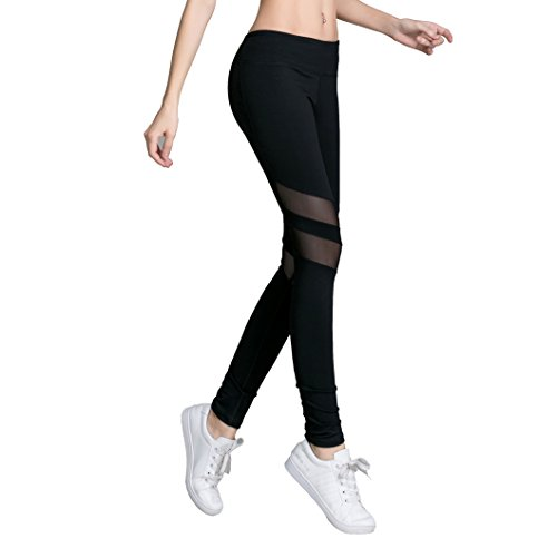 Heat Move Mesh Leggings Wome's Capris Yaga Pants Workout Gym Running With Pocket