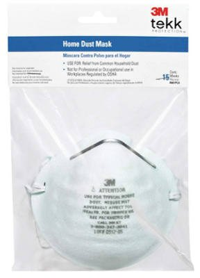 3M 8661PC1-15A Home Dust Masks, 15-Pack - Quantity 12