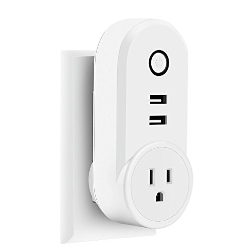 TNAIVE Smart USB Plug, Smart Wifi Plug Wireless Socket Outlet, APP Control from Anywhere, Compatible with Alexa Echo and Google Home IFTTT, No Hub Required