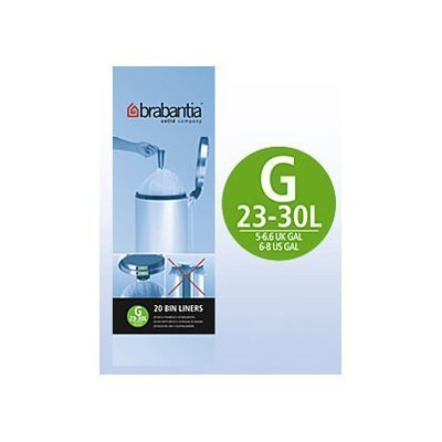 Brabantia Size G 30 Litre Bin Liners (20 Bags per Roll) 246265 PACK OF ()