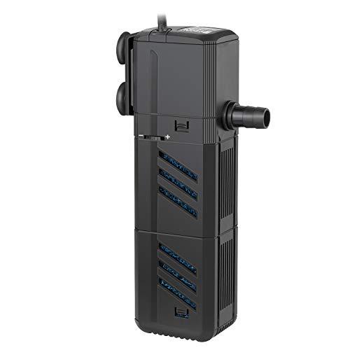 IREENUO Internal Fish Tank Filter, 15W - 1500L/H 4 in 1 Aquarium Filter Pump...