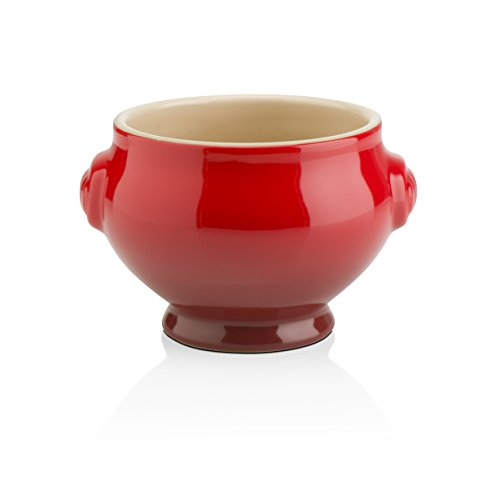 Le Creuset Heritage Stoneware Soup Bowl, 20-Ounce, Cerise (Cherry Red) by Le Creuset
