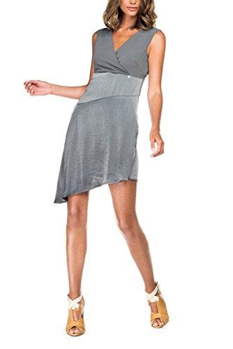 SALSA Vestido asimétrico ajustado en el pecho Negro