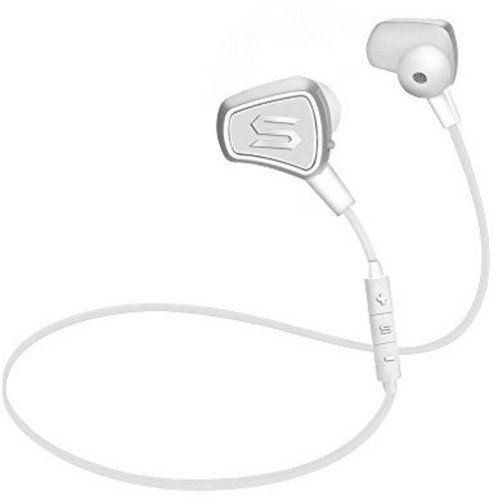 SOUL Electronics Bluetooth Wireless Impact High Efficiency Earphones, White (SI08WH)