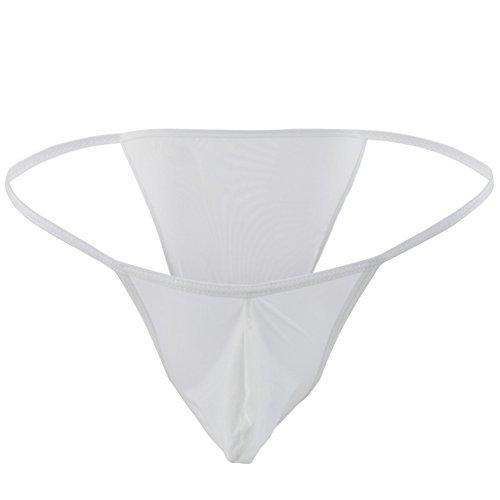 Freebily Mens Silky Bugle Pouch Tanga Briefs Bikini Underwear