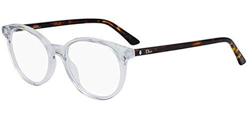 Dior Montaigne 47 LWP Crystal Dark Havana - Eyeglasses Womens Dior