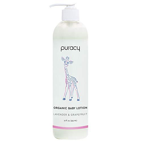 Puracy Baby Lotion, Organic Moisturizer for Infants & Newborns, Natural Calming Lavender & Grapefruit for Sensitive Skin…