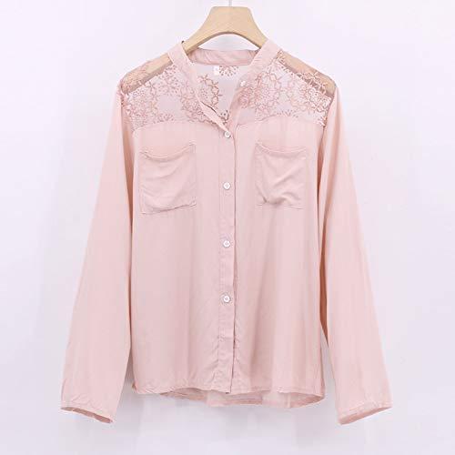 Chemise Automne Dentelle shirt femmes Tops Tops Rose en Manches Xinantime Pour Longues Femmes T Blouse hiver rFr4pwt