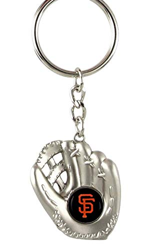 aminco San Francisco Giants - MLB Silver Baseball Glove Keychain