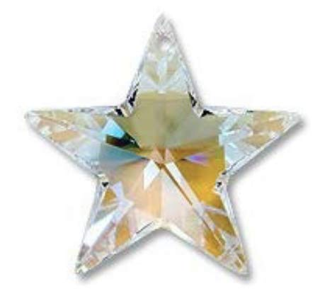 (Swarovski Crystal Star Ornament AB Crystal, Wedding Decoration, Party Favor,Party Table décor,Crystal)