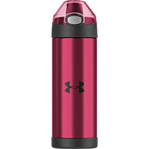 Under Armour Beyond 16 Ounce Vacuum Insulated Bottle with Flip Top Lid, Rebel Pink